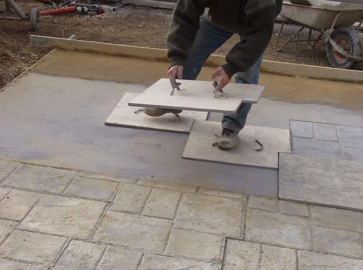 Empreintes pour béton